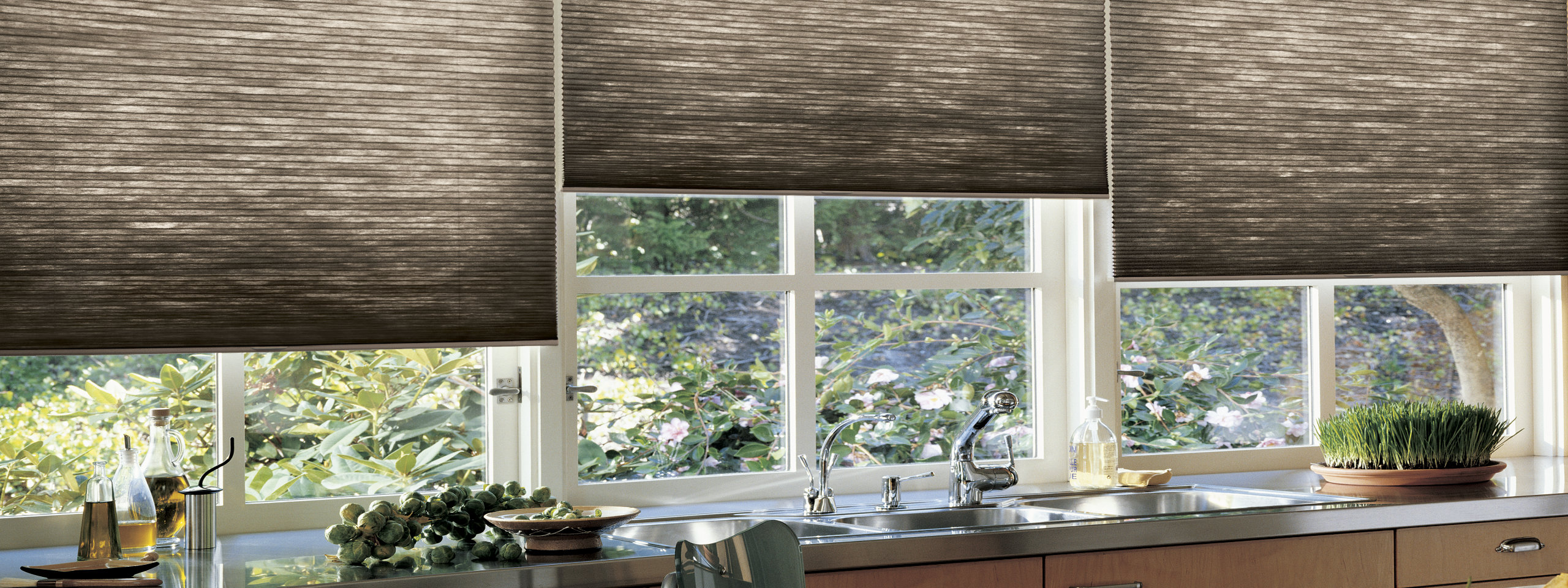 Hunter Douglas Cellular Shades in the Kitchen