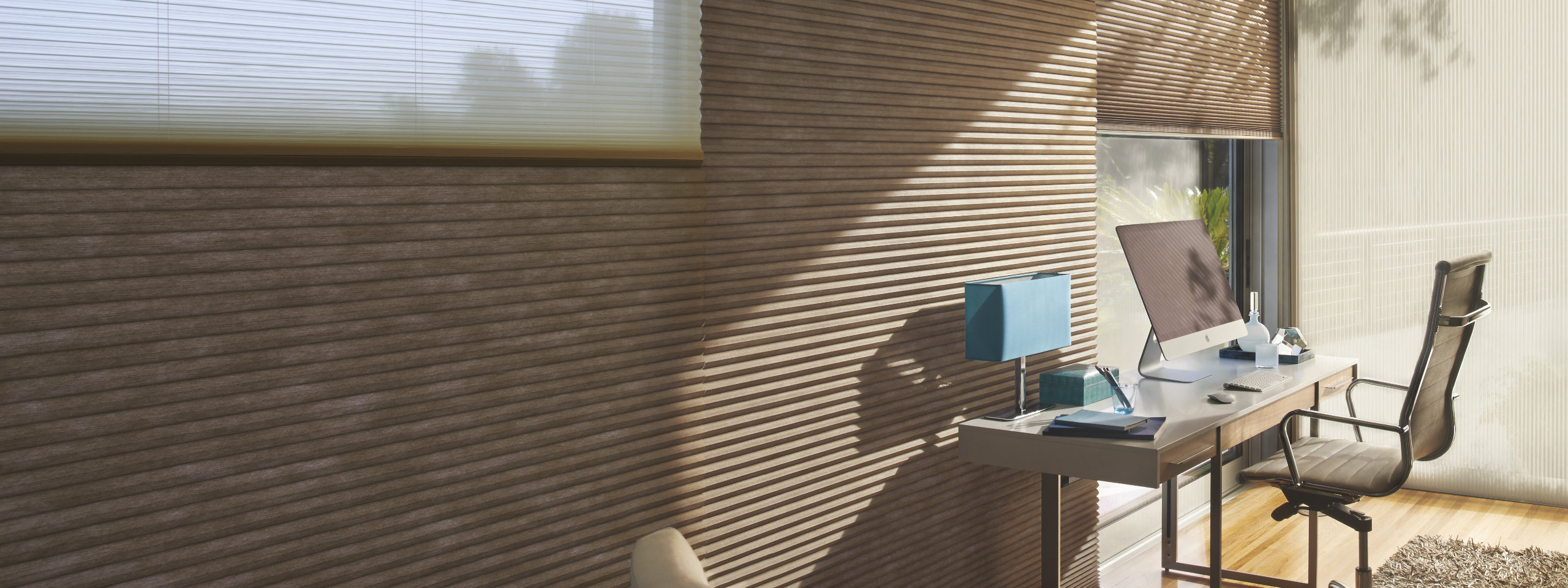 Hunter Douglas Cellular Shades in the Office