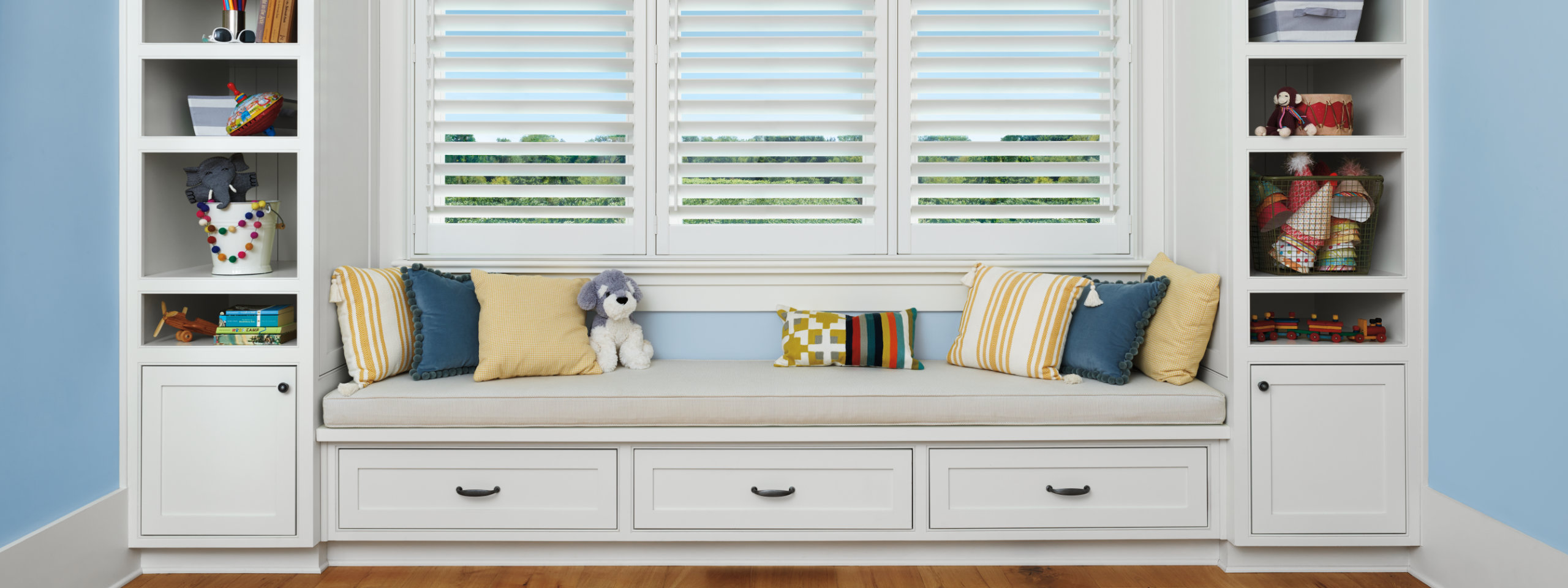 Plantation Shutters In Room