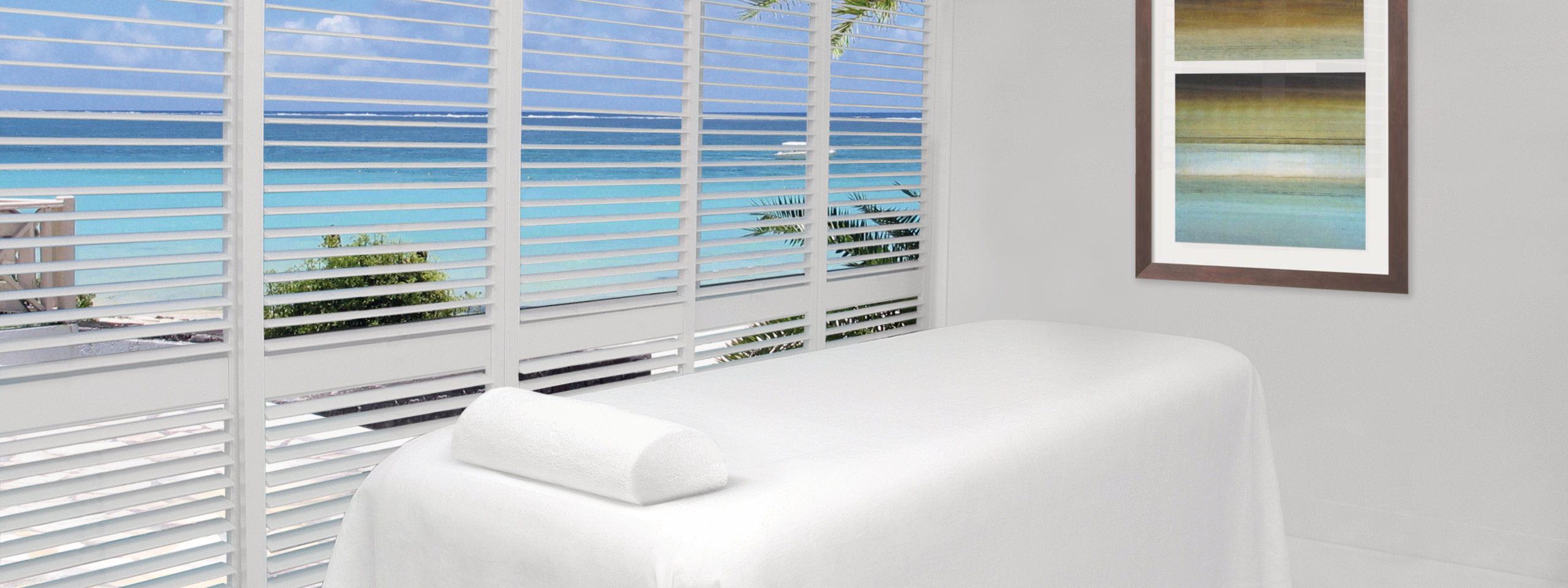 Plantation Shutters with beach view
