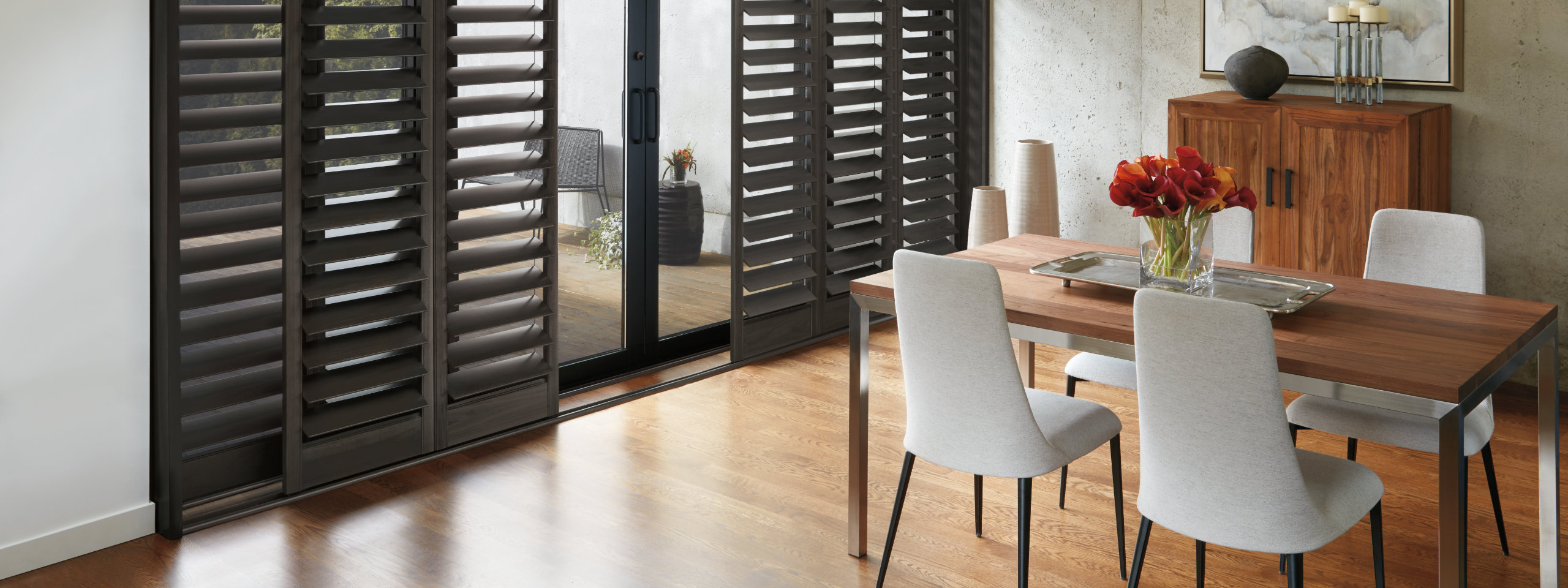 Plantation Shutters in Dining Room 2