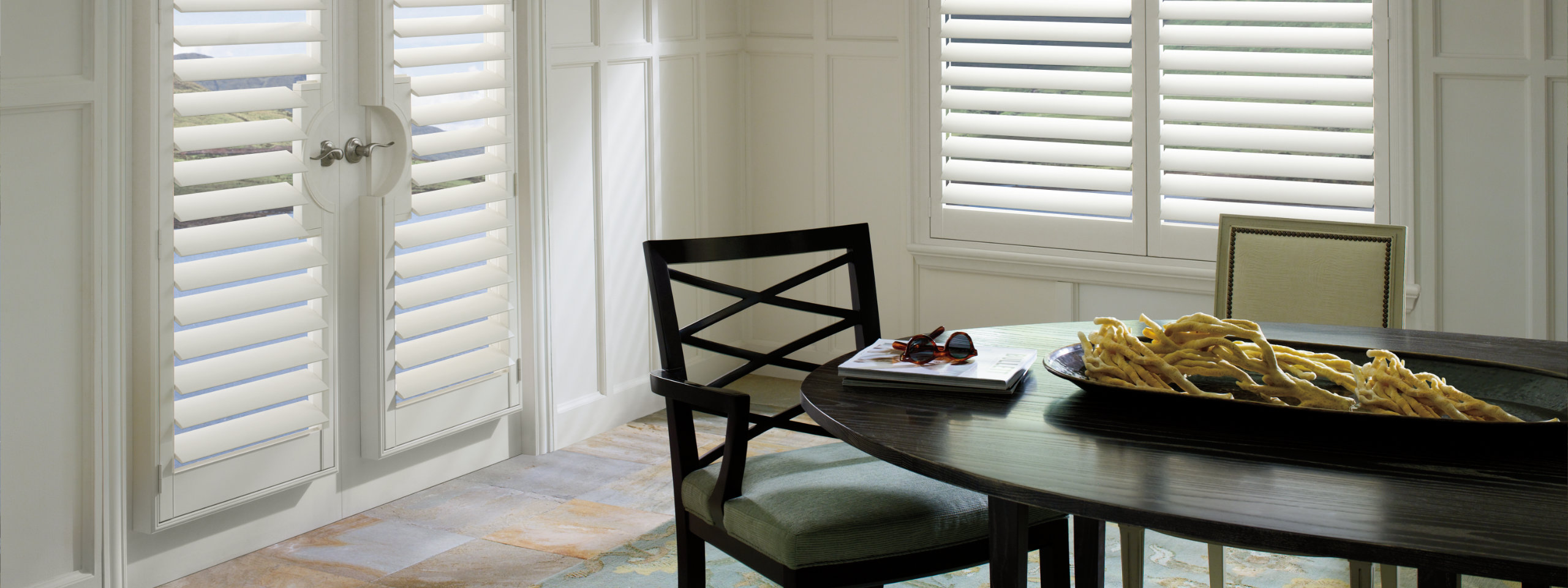 Plantation Shutters in Dining Room