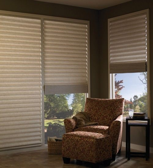 Hunter Douglas Motorized Vignette Modern Roman Shades In