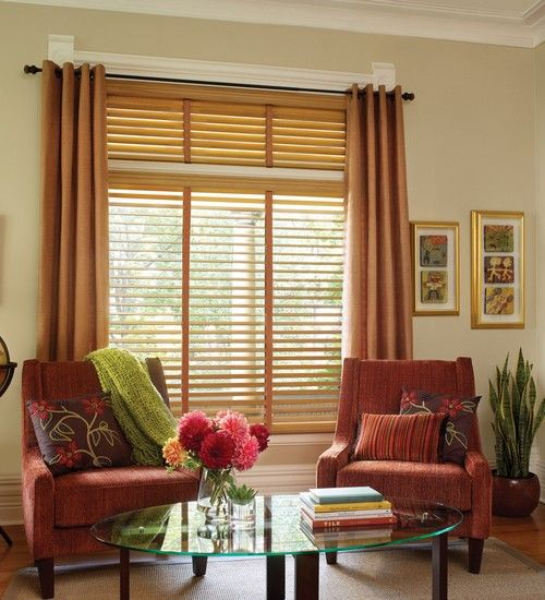 Parkland Wood Blinds in Living Room