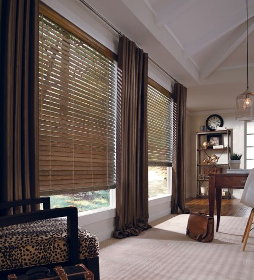 Parkland Wood Blinds in Office